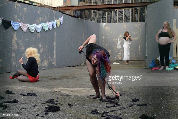 Laura O'Connor Tara Carroll Mairead Delaney and Hilliary Gilligan during Performing The Self/Performing The Other performance after two day Aine...