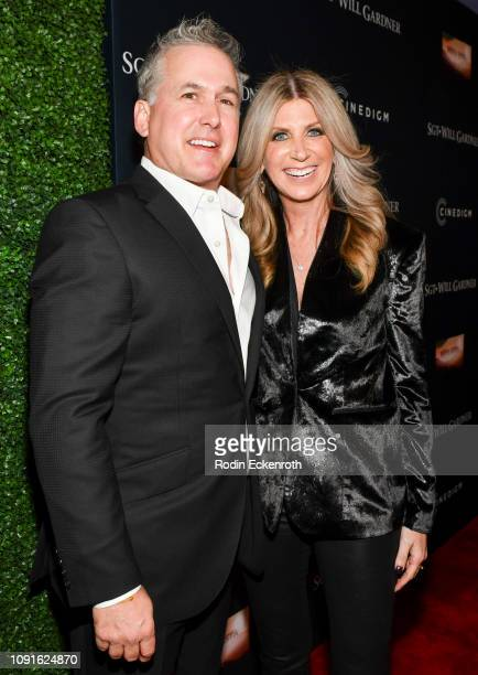 Laura Okmin and Mike Hagerty attend the premiere of Cinedigm Entertainment Group's SGT Will Gardner at ArcLight Hollywood on January 08 2019 in...