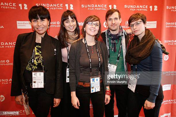 Laura Ortman Kendra Mylnechuk Brooke Swaney Peter O'Leary and Emily Reese attend Shorts Program II during the 2012 Sundance Film Festival at Yarrow...