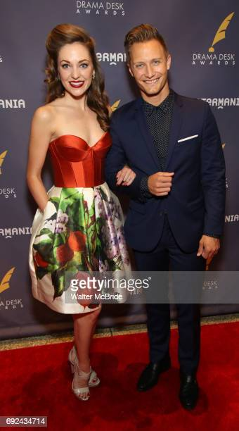 Laura Osnes and Nathan Johnson attend the 2017 Drama Desk Awards at Town Hall on June 4 2017 in New York City