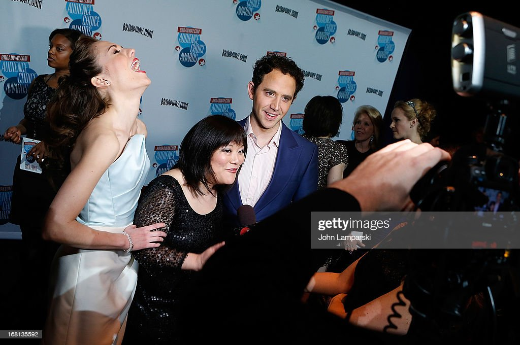 Laura Osnes, Ann Harada and Santino Fontana attend The 2013 Broadway.com Audience Choice Awards at Jazz at Lincoln Center on May 5, 2013 in New York City.