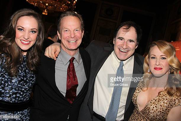 Laura Osnes Bill Irwin Richard Kind and Katie Finneran pose at The Roundabout Theatre Company's 2015 Spring Gala at the Grand Ballroom of The Waldorf...