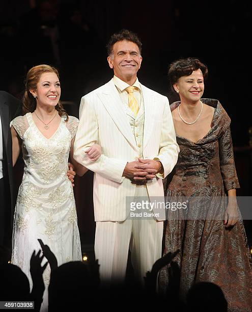 Laura Osnes Brian Stokes Mitchell and Tracey Ullman attend The Band Wagon Closing Night Party at New York City Center on November 16 2014 in New York...