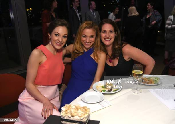 Laura Osnes Christy Altomare and guest attend 32nd Annual Lucille Lortel Awards at NYU Skirball Center on May 7 2017 in New York City
