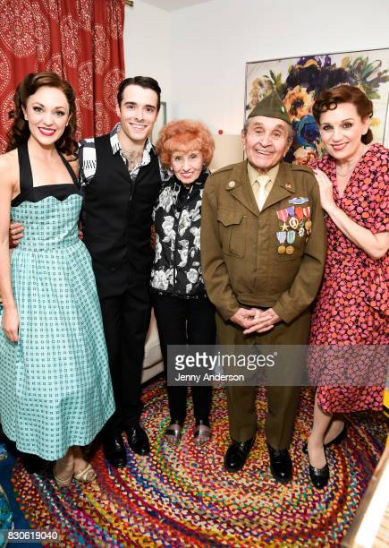 Laura Osnes Corey Cott America's Longest Working 'Rosie the Riveter' 97 year old Elinor Otto decorated Battle of the Bulge Purple Heart recipient 93...