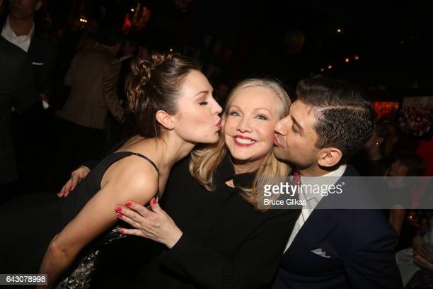 Laura Osnes Director/Choreographer Susan Stroman and Tony Yazbeck pose at the after party for Manhattan Concert Production's Broadway Series Crazy...
