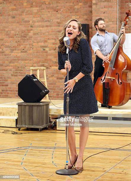 Laura Osnes during the InStudio Presentation of the Paper Mill Playhouse production of 'The Bandstand' at The Gibney Dance Center on September 24...