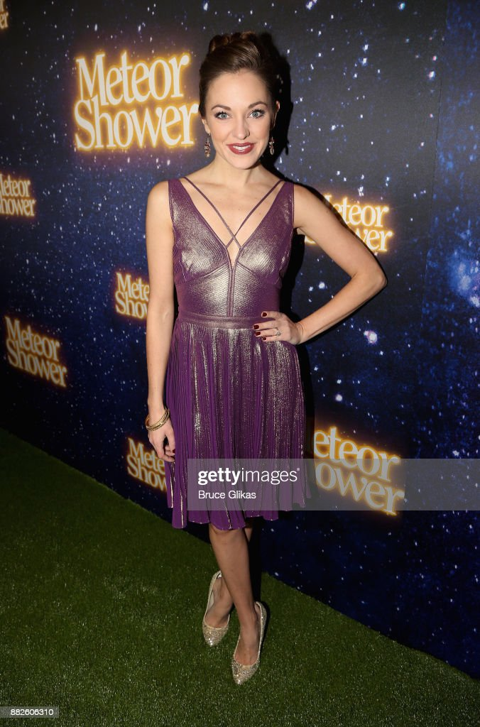 Laura Osnes poses at the opening night of Steve Martin's new play 'Meteor Shower' on Broadway at The Booth Theatre on November 29, 2017 in New York City.