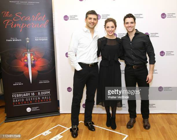 Laura Osnes Tony Yazbeck and Corey Cott attend the Meet the Cast of The MCP Production of The Scarlet Pimpernel at Pearl Rehearsal studio Theatre on...