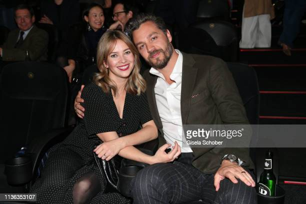 Laura Osswald and her boyfriend Krishan Weber during the Der Fall Collini premiere at Mathaeser Filmpalast on April 11 2019 in Munich Germany