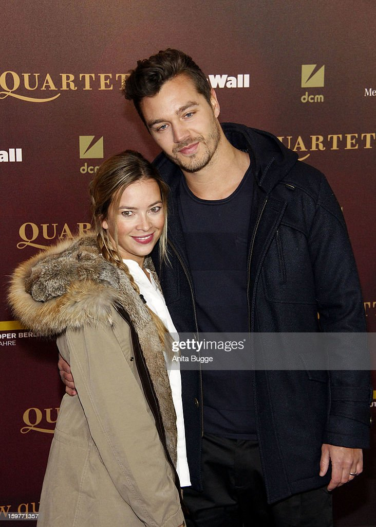 Laura Osswald and partner Christian attends the 'Quartet' Berlin Photocall at Deutsche Oper on January 20, 2013 in Berlin, Germany.