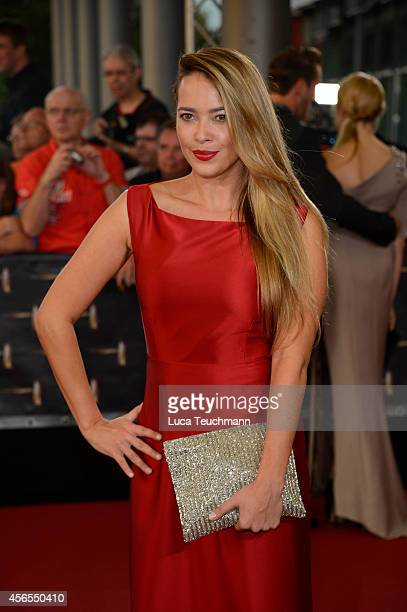 Laura Osswald attend the red carpet of the Deutscher Fernsehpreis 2014 at Coloneum on October 2 2014 in Cologne Germany