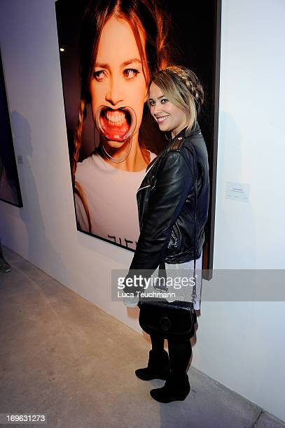 Laura Osswald attends the Niels Ruf Art Exhibition at Camera Works on May 29, 2013 in Berlin, Germany.