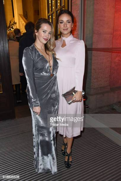 Laura Osswald Janina Uhse during the Berlin Opening Night by GALA and UFA Fiction at Das Stue on February 15 2018 in Berlin Germany