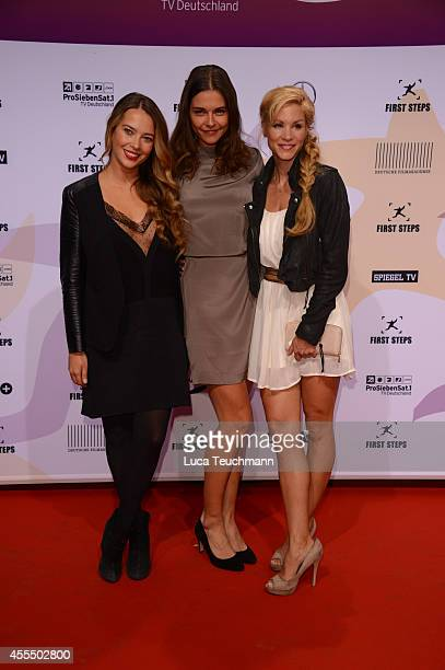 Laura Osswald Susan Hoecke and NinaFriederike Gnaedig attend the First Steps Award 2014 at Stage Theater on September 15 2014 in Berlin Germany