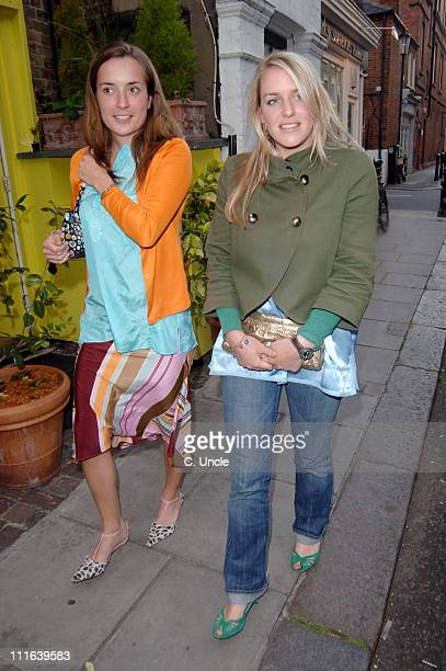 Laura Parker Bowles and guest during Stila Kiss It Better Campaign VIP Party Arrivals at Frankie's Bar Grill in London Great Britain