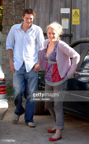 Laura Parker Bowles and Harry Lopes arrive for their wedding rehearsal at St Cyriac's Church in Lacock Wiltshire on May 5 2006 ahead of their actual...