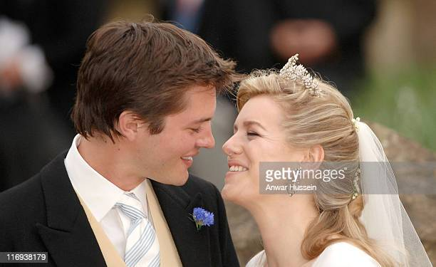 Laura Parker Bowles and Harry Lopes during Laura Parker Bowles and Harry Lopes Wedding at St Cyriac's Church in Lacock Great Britain