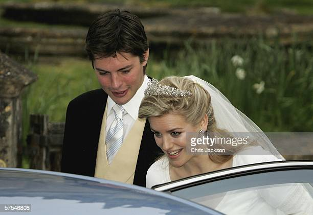 Laura Parker Bowles and Harry Lopes leave St Cyriac's Church Lacock having married on May 6 2006 in Wiltshire England 26year old Laura and 29year old...