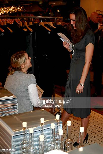 Laura Parker Bowles and Kate Middleton attend the book launch party of 'Time To Reflect' by photographer Alistair Morrison at Bluebird on November 28...