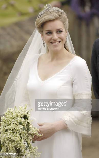 Laura Parker Bowles during Laura Parker Bowles and Harry Lopes – Wedding at St Cyriac's Church in Lacock Great Britain