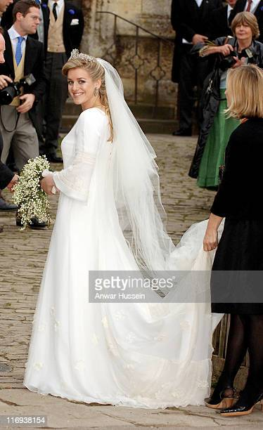 Laura Parker Bowles during Laura Parker Bowles and Harry Lopes Wedding at St Cyriac's Church in Lacock Great Britain