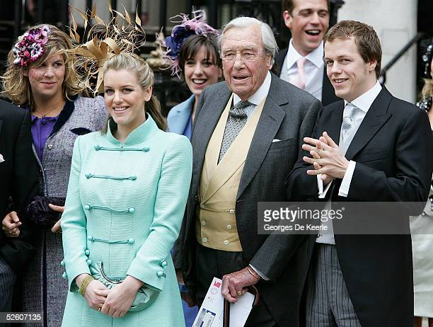 Laura Parker Bowles Major Bruce Shand and Tom Parker Bowles depart the Civil Ceremony following the marriage between HRH Prince Charles Mrs Camilla...