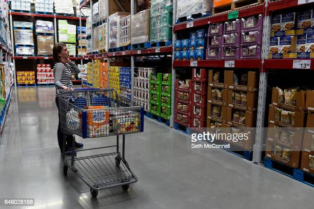 Laura Parker browses the aisles at Sam's Club at The Promenade at Castle Rock in Castle Rock Colorado on February 20 2017 After years of development...