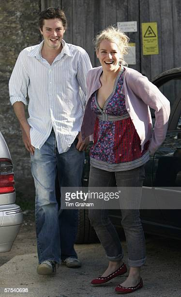 Laura ParkerBowles and her fiance Harry Lopes at the wedding rehearsal for their imminent marriage at St Cyriac's Church Lacock on May 5 2006 in...