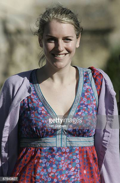 Laura ParkerBowles at the wedding rehearsal for her imminent marriage to Harry Lopes at St Cyriac's Church Lacock on May 5 2006 in Wiltshire England
