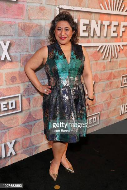 Laura Patalano attends the premiere of Netflix's GENTIFIED Season 1 at Margo Albert Theatre on February 20 2020 in Los Angeles California