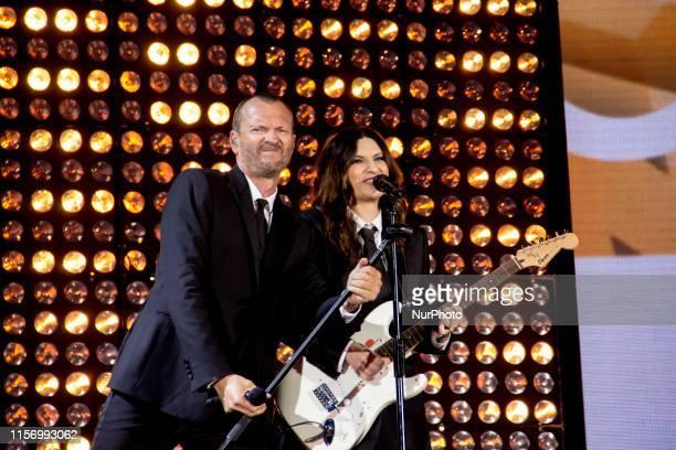 Laura Pausini and Biagio Antonacci performed in concert at the Euganeo stadium in Padua with their tour Laura and Biagio stadiums 2019 Saturday 20...