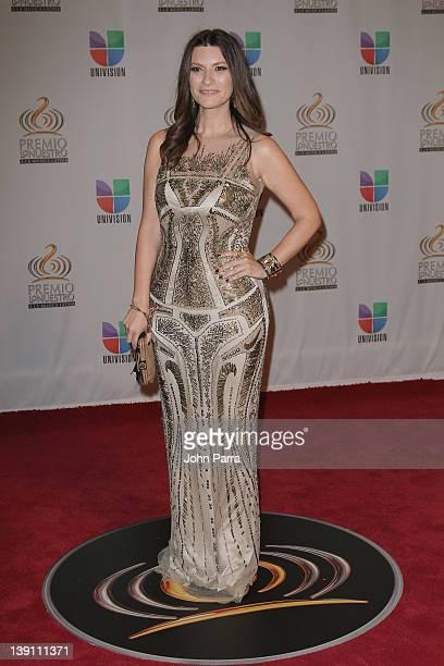 Laura Pausini arrives at the Premio Lo Nuestro a La Musica Latina at American Airlines Arena on February 16 2012 in Miami Florida