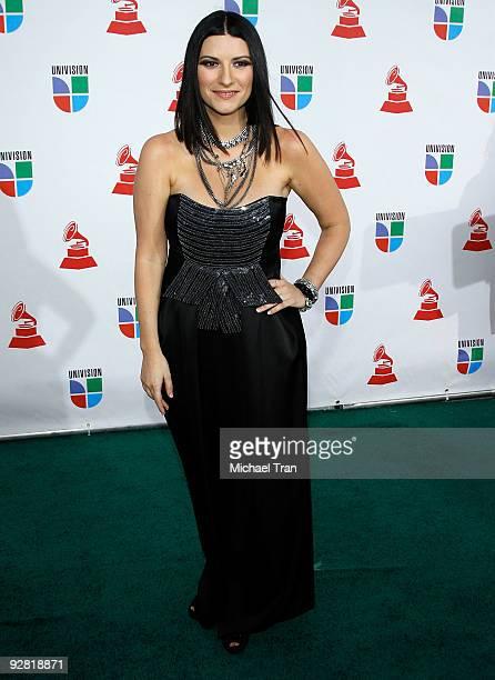 Laura Pausini arrives to the 10th Annual Latin Grammy Awards held at Mandalay Bay on November 5 2009 in Las Vegas Nevada