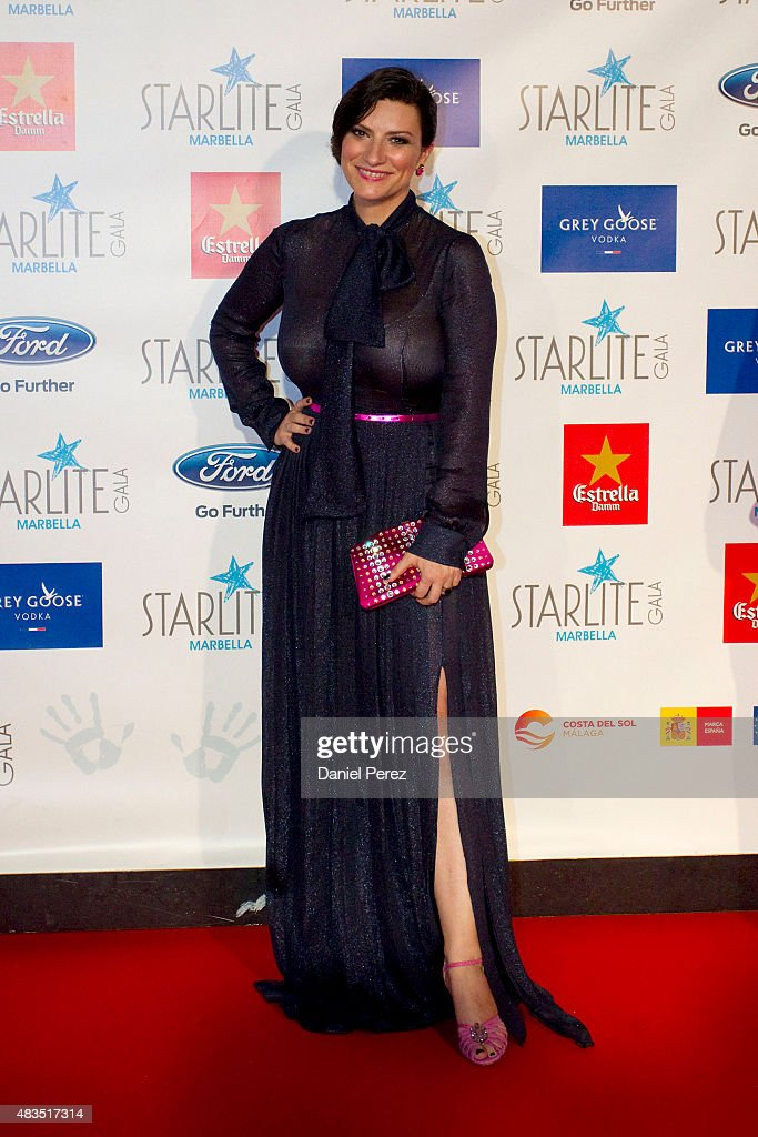 Laura Pausini attends Starlite Gala on August 9, 2015 in Marbella, Spain.