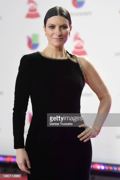 Laura Pausini attends the 19th annual Latin GRAMMY Awards at MGM Grand Garden Arena on November 15 2018 in Las Vegas Nevada