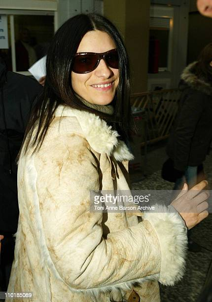 Laura Pausini during 2004 NRJ Music Awards Rehearsal Arrivals at Palais des Festivals in Cannes France