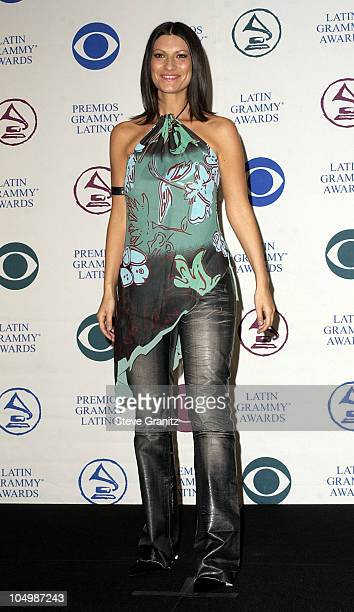 Laura Pausini during 3rd Annual Latin GRAMMY Awards Press Room at Kodak Theatre in Hollywood California United States