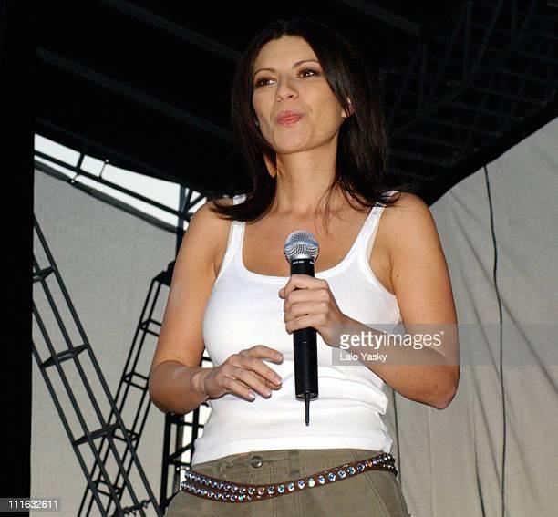 Laura Pausini during '40 Principales' Pop Festival at King Juan Carlos Park in Madrid Spain