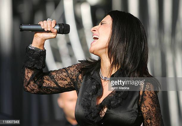 Laura Pausini during Laura Pausini Performs at the 2006 Juntos en Concierto July 14 2006 at Shoreline Amphitheater in Mountain View California United...