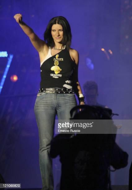 Laura Pausini during LIVE 8 Rome Show at Circus Maximus in Rome Italy
