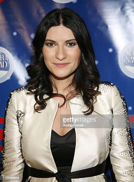 Laura Pausini during Univision Presents Nuestra Navidad Show at Greenwich Studios in Miami FL United States