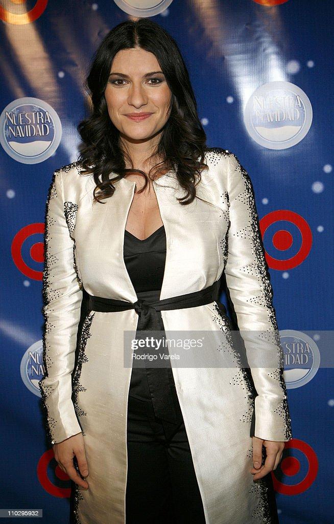 Laura Pausini during Univision Presents Nuestra Navidad - Show at Greenwich Studios in Miami, FL, United States.