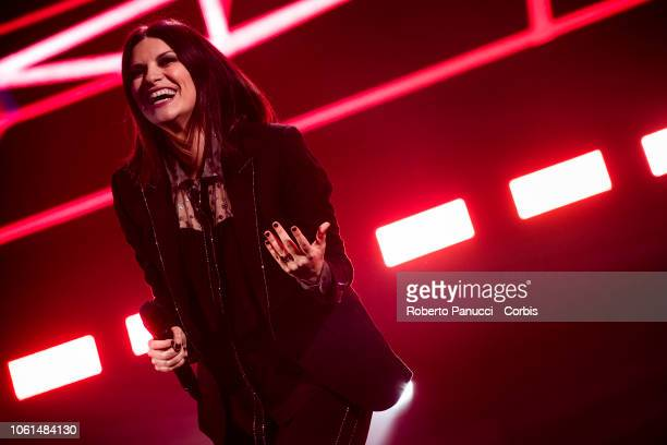Laura Pausini perform on stage on October 30 2018 in Rome Italy