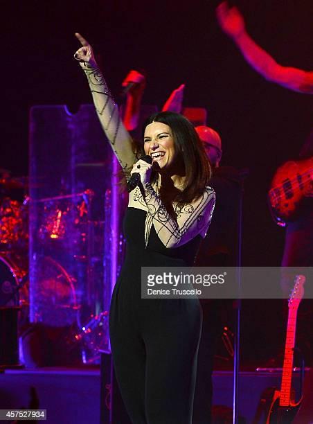 Laura Pausini performs at the Pearl at Palms Casino Resort on October 19 2014 in Las Vegas Nevada