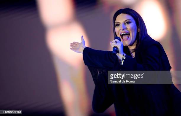 Laura Pausini performs during the Cadena Dial Awards on March 14 2019 in Tenerife Spain