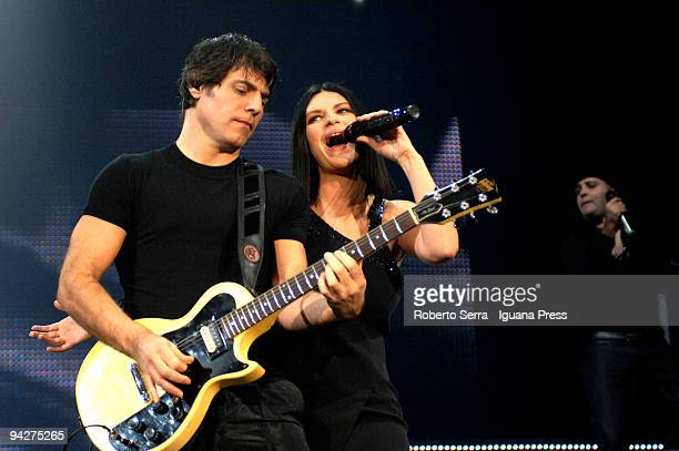 Laura Pausini performs his Laura Live concert at Futurshow Station with guitarist Paolo Carta who is also her's boyfriend in the life on December 5,...
