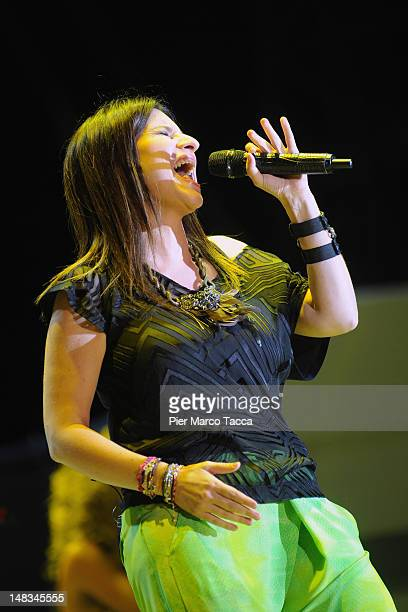Laura Pausini performs on July 14 2012 in Locarno Switzerland