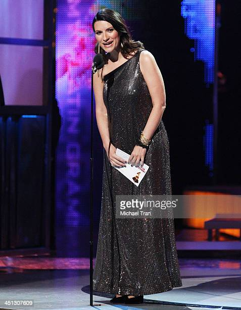 Laura Pausini speaks onstage during the 14th Annual Latin GRAMMY Awards held at Mandalay Bay Resort and Casino on November 21 2013 in Las Vegas Nevada