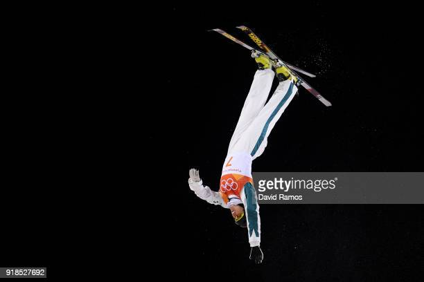 Laura Peel of Australia competes during the Freestyle Skiing Ladies' Aerials Qualification on day six of the PyeongChang 2018 Winter Olympic Games at...